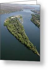 Island On The Zambezi River Greeting Card by Tony Camacho