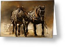 It Takes Two Greeting Card by Davandra Cribbie