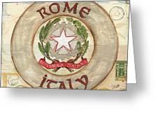 Italian Coat Of Arms Greeting Card by Debbie DeWitt