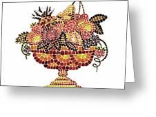 Italian Mosaic Vase With Fruits Greeting Card by Irina Sztukowski