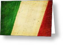 Italy Flag Greeting Card by Setsiri Silapasuwanchai
