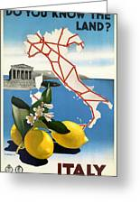 Italy Greeting Card by Nomad Art And  Design