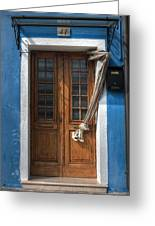 Italy Old Door Greeting Card by Joana Kruse