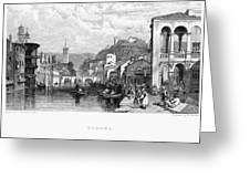Italy: Verona, 1833 Greeting Card by Granger