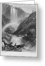 Italy: Waterfall, 1833 Greeting Card by Granger