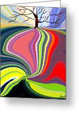 Its A Tree's Life Greeting Card by Renate Nadi Wesley