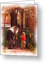 It's About The Gate Greeting Card by Feva  Fotos