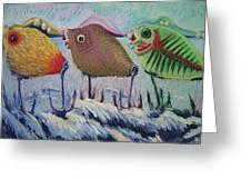 Itty Bitty Pond Greeting Card by Barbara Richert