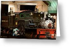 I've Been Working On The Railroad Greeting Card by RC DeWinter