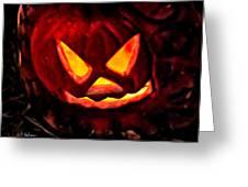 Jack-o-lantern Greeting Card by Christopher Holmes