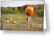 Jack O'lantern Greeting Card by Linda Mishler