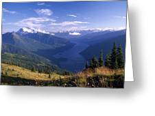 Jack Peak And Ross Lake Greeting Card by David Pluth