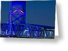 Jacksonville Skyline Greeting Card by Debra and Dave Vanderlaan