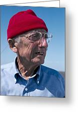 Jacques-yves Cousteau, French Diver Greeting Card by Alexis Rosenfeld