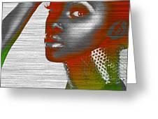 Jada Greeting Card by Naxart Studio