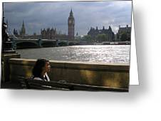 Jade On Thames Greeting Card by Devin Hyde