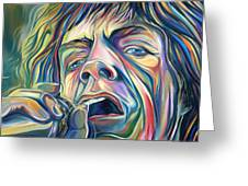Jagger Greeting Card by Redlime Art