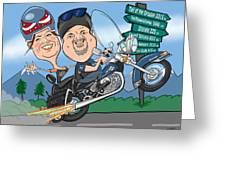 Jaime Caricature Greeting Card by Chris Berg