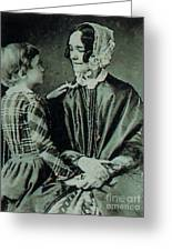 Jane Pierce Greeting Card by Photo Researchers