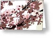 Japanese Blossom Greeting Card by Sarah O Toole