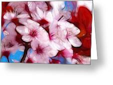 Japanese Flower Greeting Card by Stefan Kuhn
