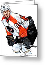 Jaromir Jagr Greeting Card by Dave Olsen