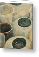 Jars Greeting Card by Diane montana Jansson