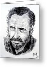 Jason Robards Greeting Card by Jim Fitzpatrick