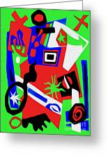 Jazz Art - 02 Greeting Card by Gregory Dyer
