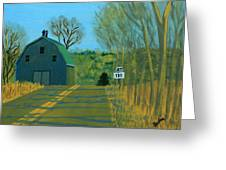 Jct 131 Greeting Card by Laurie Breton