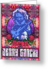 Jerry Garcia Greeting Card by John Goldacker