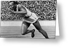 JESSE OWENS (1913-1980) Greeting Card by Granger