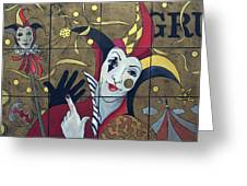 Jester In Red Greeting Card by Susanne Clark