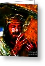 Jesus Carrying The Cross No2 Greeting Card by Pamela Johnson