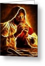 Jesus Christ Last Supper Greeting Card by Pamela Johnson