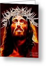 Jesus Christ Our Savior Greeting Card by Pamela Johnson