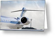 Jet Airplane Tail Greeting Card by Jaak Nilson
