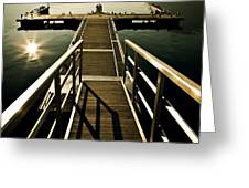 jetty Greeting Card by Joana Kruse
