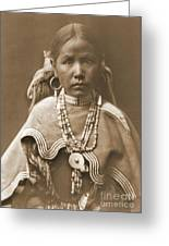 Jicarilla Maiden Greeting Card by Padre Art