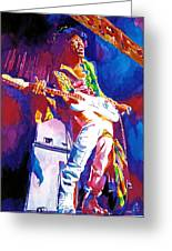 Jimi Hendrix - The Ultimate Greeting Card by David Lloyd Glover