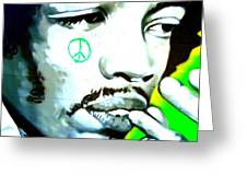 Jimi Hendrix Greeting Card by Randall Weidner