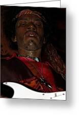 Jimi Hendrix Greeting Card by Sophie Vigneault