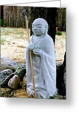 Jizo Bodhisattva - Children's Protector Greeting Card by Dagmar Ceki