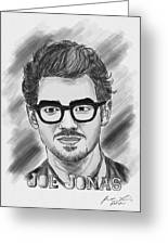 Joe Jonas Drawing Greeting Card by Kenal Louis