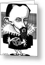 Johannes Kepler, Caricature Greeting Card by Gary Brown