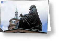 Johannes Kepler Monument, Germany Greeting Card by Detlev Van Ravenswaay