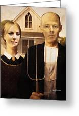 John And Kate Plus Eight Greeting Card by Anthony Caruso