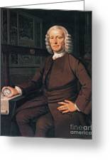 John Harrison, English Inventor Greeting Card by Photo Researchers