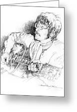 John Lennon Greeting Card by David Lloyd Glover