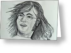 John Lennon Greeting Card by Pete Maier